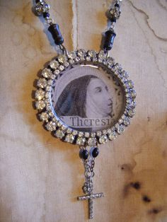 Antique Saint Teresa necklace religious French by madonnaenchanted, $195.00