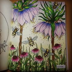 Hanna Karlzon's wonderful book and Chris Cheng's great colouring tutorial #hannakarlzondagdrömmar #hannakarlzon #dagdrömmar #prismacolorpencils #prismacolor #zasneni #podmesnivat