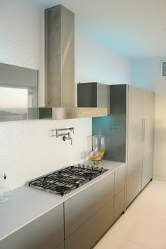Sleek, sophisticated modern #kitchen space.