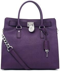 Michael Kors Hamilton Saffiano Leather Tote Violet