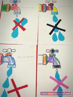 Suyumuz Boşa Akmasın - Önce Okul Öncesi Ekibi Forum Sitesi - Biz Bu İşi Biliyoruz Save Water, Earth Day, Kids And Parenting, Activities For Kids, Classroom, Student, Painting, Water Cycle, Learning Activities