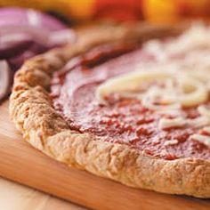 Gluten-Free Pizza Crust Recipe Gluten Free Pizza, Gluten Free Cooking, Gluten Free Desserts, Dairy Free, Gf Recipes, Gluten Free Recipes, Pizza Recipes, Bread Recipes, Cookie Recipes