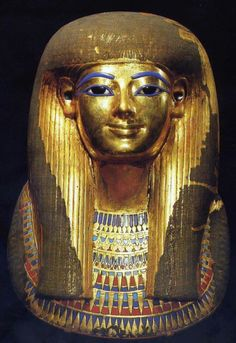 Mask of tjuyu .. aka toeja...mother in law of Amenhotep III and great grand mother of Tutankhamen.. Cairo.