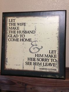 Marriage Quote by Martin Luther wooden sign NEW by bethborder