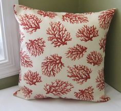 FREE SHIPPING Waverly Coral Trellis Pillow Cover 16x16 $21 Etsy
