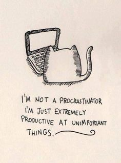 I'm not a procrastinator...funny