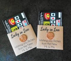 Lottery Wedding Favor Lucky in Love Wedding Favor Scratch Card Holder Lottery Ticket Holder Lotto Favors Set of 25 Wedding Favours Scratch Cards, Creative Wedding Favors, Inexpensive Wedding Favors, Elegant Wedding Favors, Edible Wedding Favors, Wedding Favors For Guests, Personalized Wedding Favors, Wedding Favor Tags, Unique Wedding Favors
