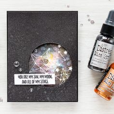 Simon Says Stamp | You Are All Of My Stars - Adding Shimmer with Mica Spray  Galaxy background Sss card kir august 2016