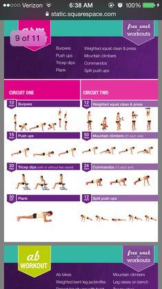 Kayla Itsines - Australian Bikini Body program 12 weeks -- free week of workouts! arms