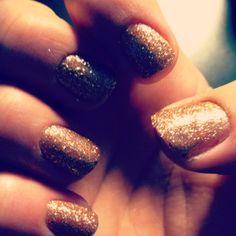Glitter nails :)