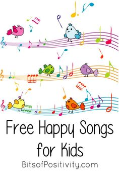 These free happy songs for kids can be used as character education resources for contentment, cheerfulness, or joyfulness virtues ... or just for fun! Great for back to school.