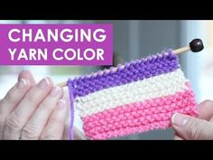 How to Change Yarn Colors While Knitting with Studio Knit - Knitting Video on YouTube
