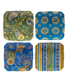 Exotic Garden Canape Plate - Set of Four