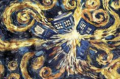 Doctor Who Exploding Tardis Poster TV Show Dr Painting Print Wall Art Large Maxi