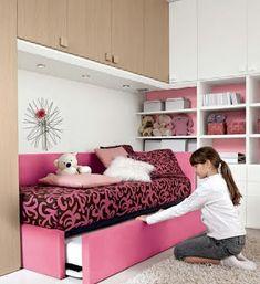 DORMITORIO FUCSIA ROSADO PARA NIÑAS Y JOVENCITAS CONVERTIBLE A CAMAS DOBLES : Dormitorios: Fotos de dormitorios Imágenes de habitaciones y recámaras, Diseño y Decoración