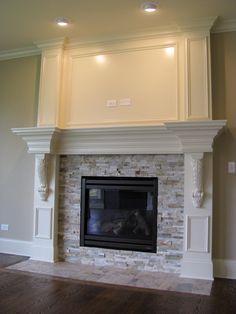 IMG_8525 Build A Fireplace, Fireplace Update, Brick Fireplace Makeover, Bedroom Fireplace, Home Fireplace, Fireplace Remodel, Living Room With Fireplace, Fireplace Design, Fireplace Mantels