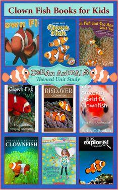 Clown Fish Books for Kids  {Ocean Animals Unit Study}