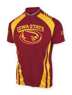 Iowa State  Cyclones 3//4 zip Men/'s Short Sleeve Cycling Jersey