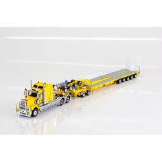 Kenworth C509 Prime Mover / 5x8 Swingwing Trailer & 2x8 Dolly - Chrome Yellow