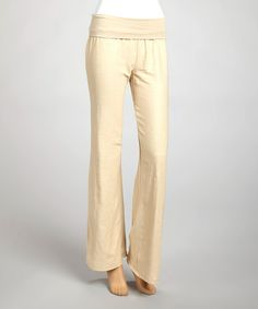 Another great find on #zulily! Taupe Linen Yoga Pants by La Class #zulilyfinds
