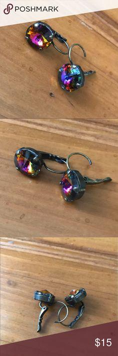 Crystal drop earrings Not Sabika. Gorgeous drop crystal custom earrings Sabika Jewelry Earrings