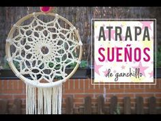 Cómo hacer un atrapasueños ganchillo, Crochet dreamcatcher, My Crafts and DIY Projects Más