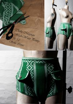 Tribal High-Waist Panty by Thebe Magugu