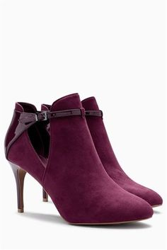 Buy Berry Open Side Shoe Boots from the Next UK online shop Latest Fashion For Women, Mens Fashion, Leather Heeled Boots, Knee Length Dresses, Shoe Boots, Your Style, Peep Toe, Booty, Lady
