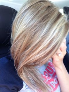 Honey/ash blonde highlights. The perfect blonde for me this spring break. I wonder if my hair will get that light.