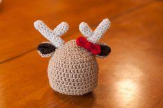 CROCHET PATTERN  Reindeer Beanie by sweetdecemberhats on Etsy, $4.50