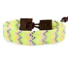Chan Luu - Yellow Mix Single Wrap Bracelet on Brown Leather, $120.00 (http://www.chanluu.com/bracelets/yellow-mix-single-wrap-bracelet-on-brown-leather/)
