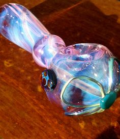Purple and Blue Color Changing Glass Pipe with by NorthLightGlass #Bong #Pipe #Waterpipe #Stoner #Pot #Weed #Glasspipe #Teagardins #SmokeShop http://Teagardins.com