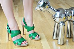 Green shoes are a great pop of color!