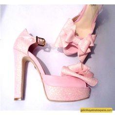 Pembe Gelin Ayakkabısı Modelleri 2017