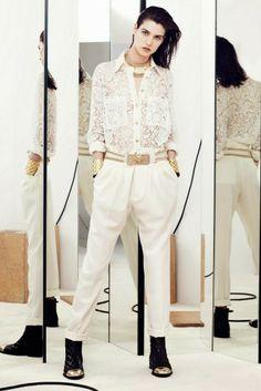 How To Wear It: Lace Shirt | Estilo Tendances