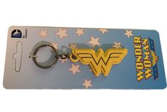Wonder Woman Logo DC Comics Official Licensed Enamel Metal Keychain Key Ring #DCComics