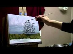 How To Paint A Stormy Scene, Water Reflections - Acrylic Painting Lessons by Brandon Schaefer