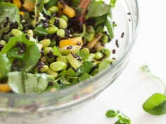 Watercress and Forbidden Rice Salad by Cookie and Kate