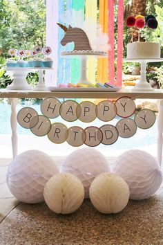 Sweet table from a Rainbow Unicorn Birthday Party via Kara's Party Ideas | KarasPartyIdeas.com (12)