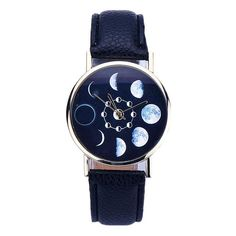 Men's Gothic Moon Phases Wrist Watch