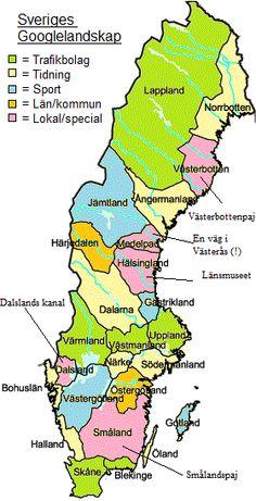 sverige kart med län Karta över Sveriges Län | All About Sweden | Pinterest | Barn  sverige kart med län