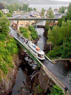 This aqueduct is located in Haverud , Sweden