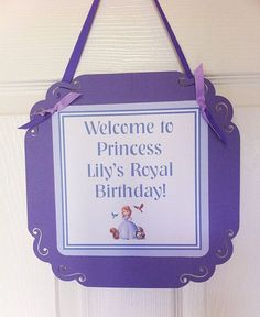 Sofia the First Party Package by LittleDragonflyParty on Etsy