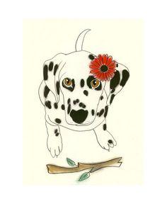 Dalmation dog art by matouen peluche