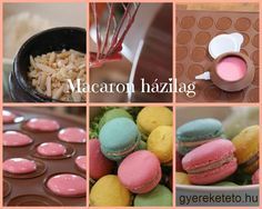 Macaron a világnapra Cake Cookies, Macarons, Muffin, Breakfast, Food, Coffee, Places, Hungary, Breakfast Cafe