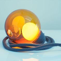 "Matter Matters  Bocci - Blown Glass, Crochet Wrapped Memory Cable - 6"" Dia. Cord 15'"