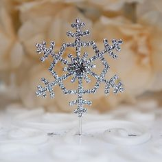 Cake Toppers Rhinestone Snowflake Cake Topper – EUR € 3.83