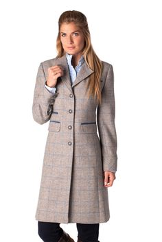 The Dubarry Blackthorn tweed coat is a true showstopper: Shale tweed pattern new for Fall/Winter 2015.