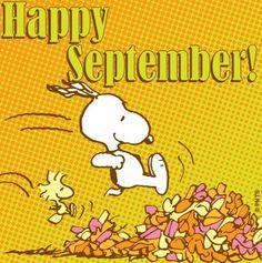 Happy September! Snoopy cartoon via www.Facebook.com/Snoopy