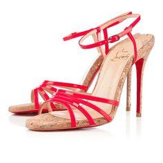 Christian Louboutin Belbride 100mm Sandals Rose Paris Women Sandals shoes